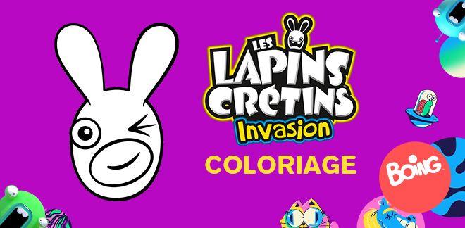 Coloriage Lapins Crétins