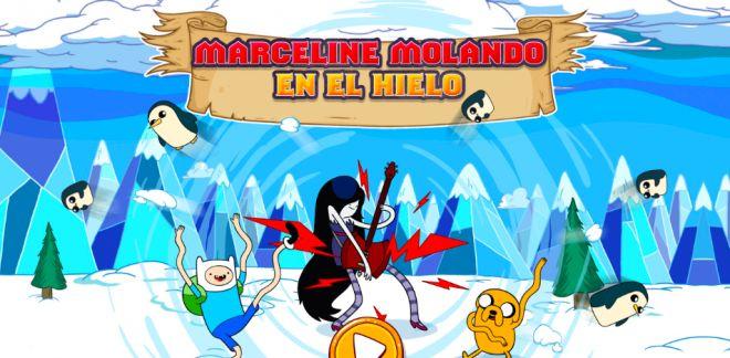 Hora de aventuras - Marceline molando en el hielo