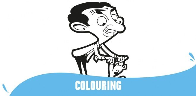 Colour In Mr Bean and Teddy