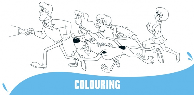 Colour In Scooby-Doo and the Gang