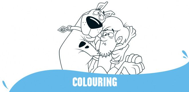 Colour In Scooby and Shaggy