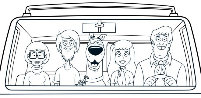 Colour In Scooby's Mystery Machine