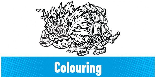 Colour In The Dinosaur