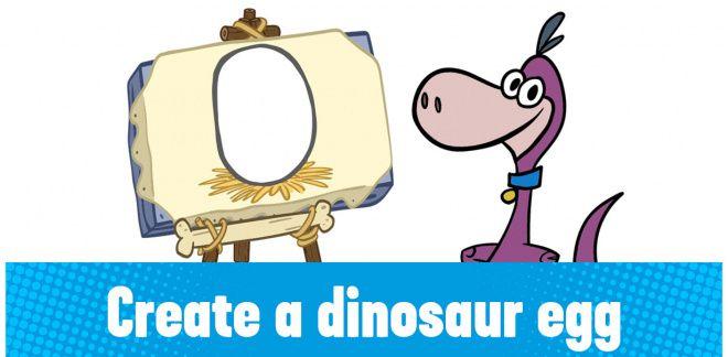 Create your own dinosaur egg!