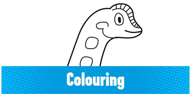Colour-in the Brachiosaurus