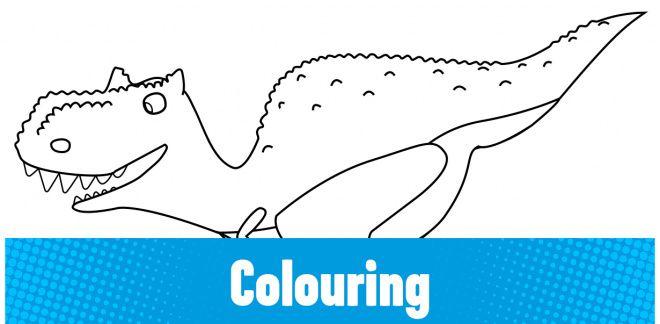 Colour-in the Carnotaurus