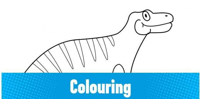 Colour-in the Iguanodon