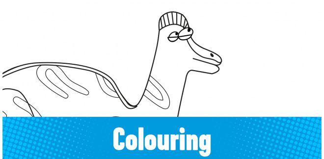Colour-in the Jaxartosaurus