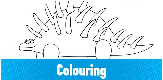 Colour-in the Kentrosaurus