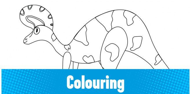 Colour-in the Lambeosaurus