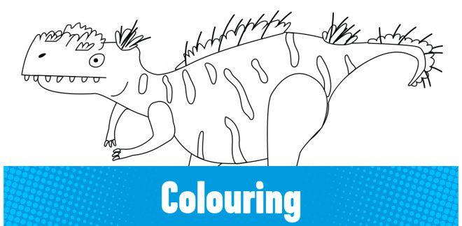 Colour-in the Megalosaurus