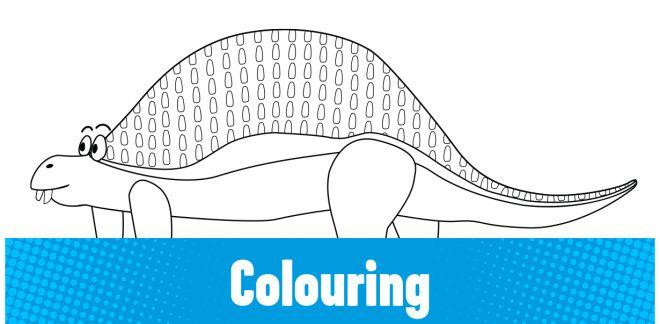 Colour-in the Nodosaurus