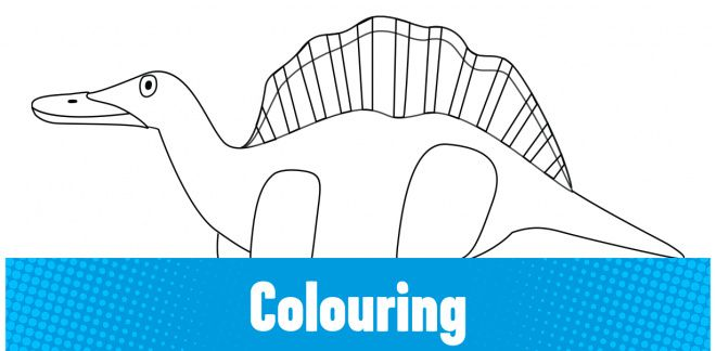 Colour-in the Ouranosaurus