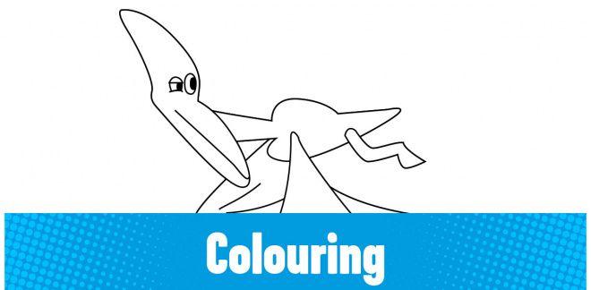 Colour-in the Parasaurolophus