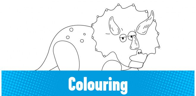 Colour-in the Triceratops