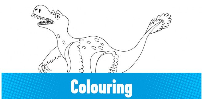 Colour-in the Veloceratops