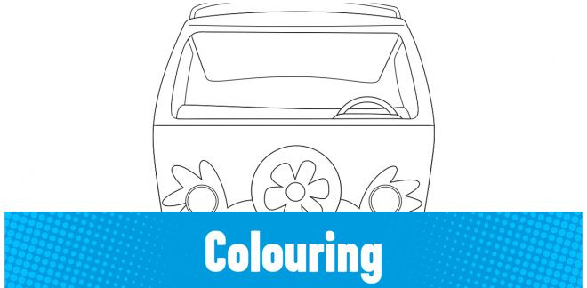 Colour In the Mystery Machine!