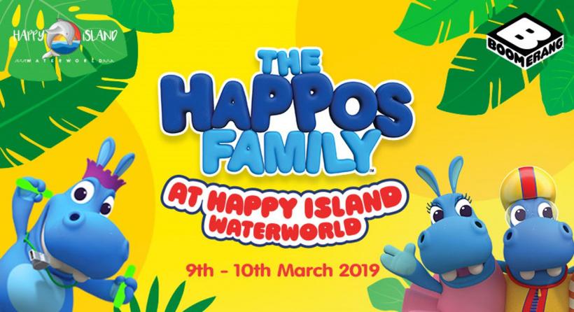 The Happos Family at Happy Island Waterworld