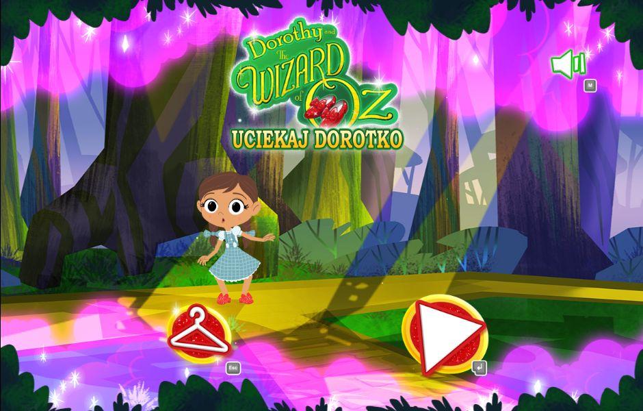 Uciekaj Dorotko - Gry z serii Dorotka i Czarnoksiężnik z Krainy Oz