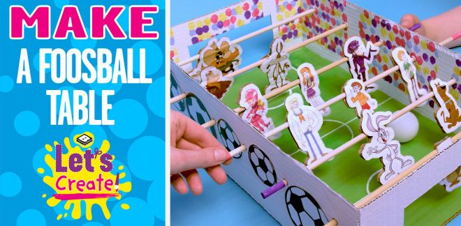 How To Make A Mini Foosball Table - Let's Create!