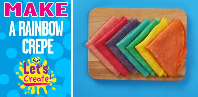How to Cook Rainbow Crepes - Let's Create!