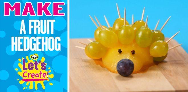 How to Make a Food Hedgehog - Let's Create!