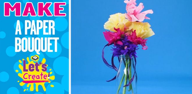 How to Make a Paper Flower - Let's Create!