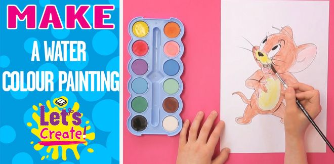 How to Paint a Watercolour - Let's Create!