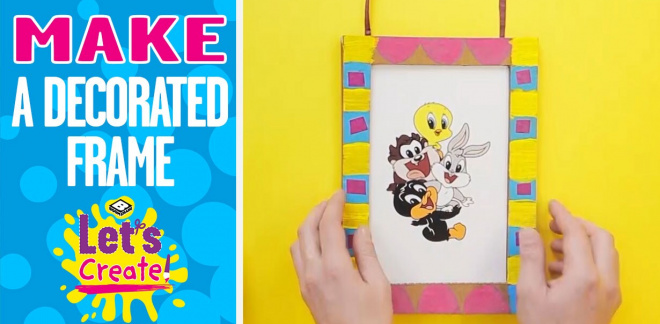 How to make a decorated frame - Let's Create!