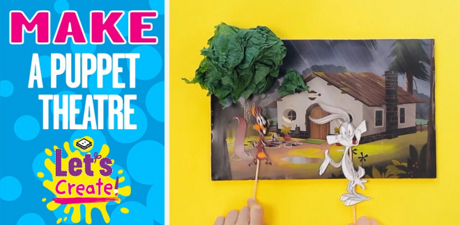 How to make a puppet theatre - Let's Create!