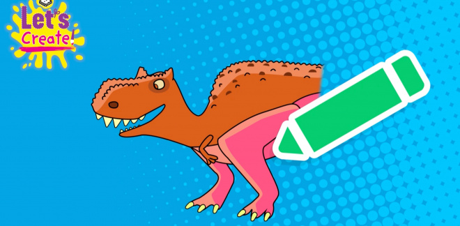The best of the Dinosaur Draw Boomerang Challenge - Let's Create!