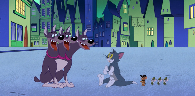 Stay away evil dogs - Tom and Jerry