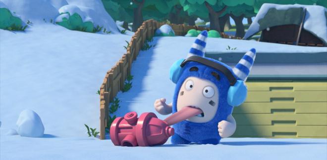 Pogo's snølek - Oddbods