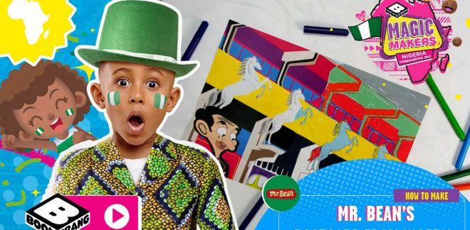 Mr. Bean's Nigerian Postcard | Colour In Activity - Boomerang Africa Magic Makers