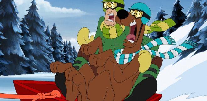 Scooby på snowboard - Scooby-Doo Og Gjett Hvem?