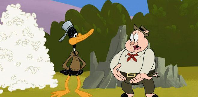 Daffy Duck en Porky Pig vs. Yosemite Sam - Bugs!