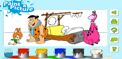 The Flintstones - Painting Game