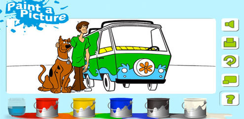 Scooby Doo - Painting Game
