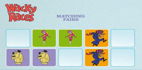 Wacky Races - Matching Pairs