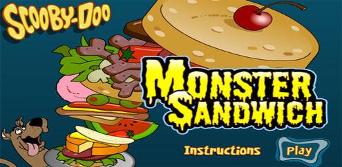 Kæmpe sandwich | Spil Scooby Doo spil