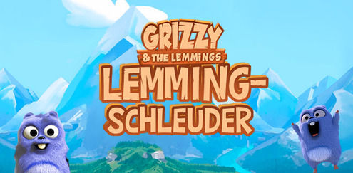 Grizzy and the Lemmings - Lemming-Schleuder
