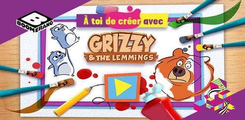 À toi de créer avec... Grizzy et les Lemmings