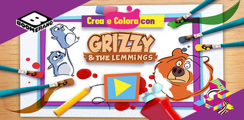 Crea e colora con... Grizzy e i Lemming