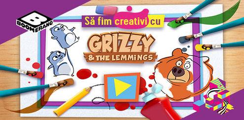 Să fim creativi cu... Grizzy şi lemingii