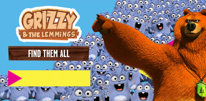 Grizzy e os Lemmings - Find Them All