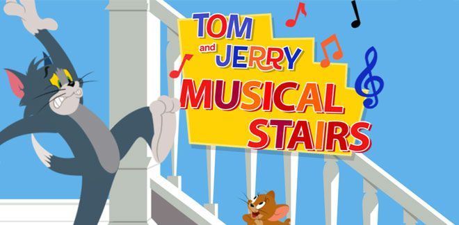 Tom e Jerry - Musical Stairs