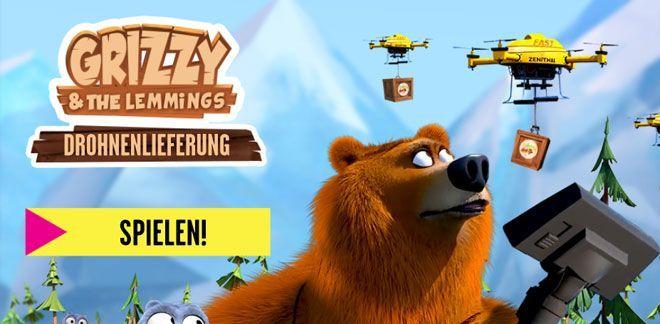 Drohnenlieferung - Grizzy und die Lemminge