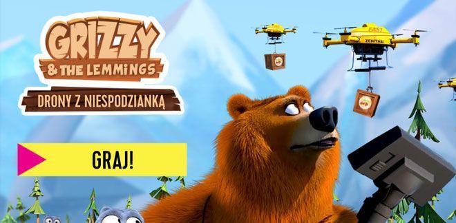 Drony z niespodzianką - Grizzly i lemingi