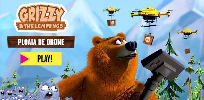 Ploaia de drone - Grizzy și lemingii