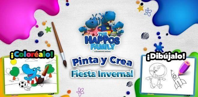 Pinta y Crea - Fiesta Invernal - Boomerang